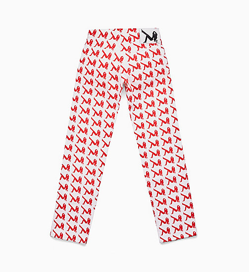 CALVIN KLEIN JEANS Icon jeans met smalle pijpen - AOP ICON RED -  JEANS - detail image 1