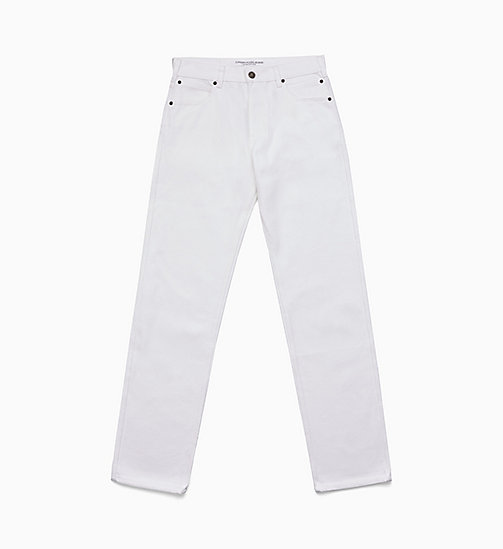 CALVIN KLEIN JEANS Straight Leg Jeans - WHITE RINSE - CALVIN KLEIN JEANS VIEW ALL - main image