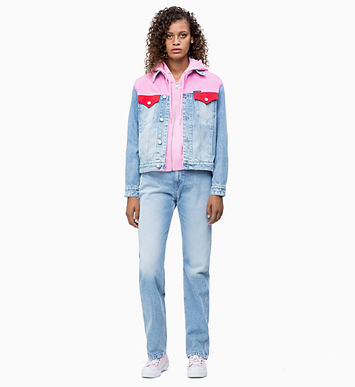 CALVIN KLEIN JEANS CKJ 030 High Rise Straight Blocked Jeans - MOHONK LIGHT PINK BLOCKED - CALVIN KLEIN JEANS NEW IN - detail image 1