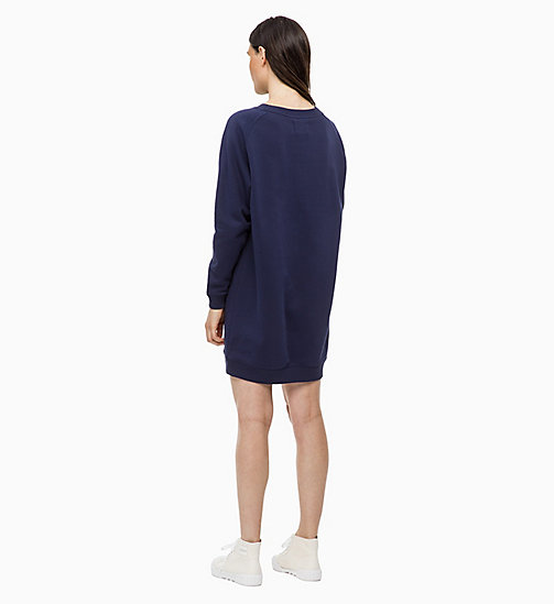 CALVIN KLEIN JEANS Logo Sweatshirt Dress - PEACOAT - CALVIN KLEIN JEANS CLOTHES - detail image 1