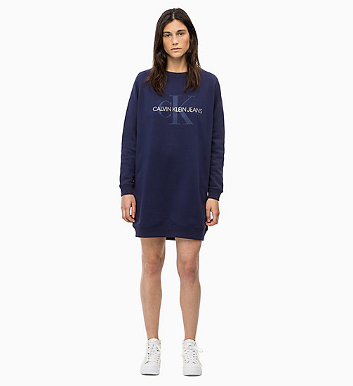 CALVIN KLEIN JEANS Logo Sweatshirt Dress - PEACOAT - CALVIN KLEIN JEANS CLOTHES - main image
