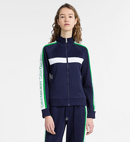 CALVIN KLEIN JEANS Side-Stripe Logo Track Jacket - PEACOAT -  CALVIN KLEIN JEANS CAPSULE - main image