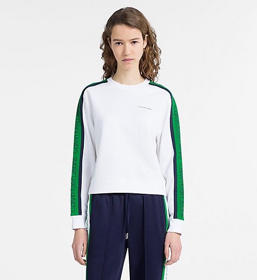 CALVIN KLEIN JEANS Sudadera con raya lateral con logo - BRIGHT WHITE - CALVIN KLEIN JEANS CALVIN KLEIN JEANS CAPSULE - imagen principal