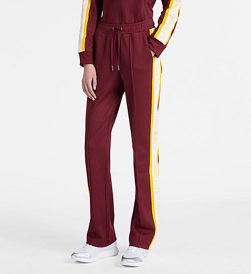 CALVIN KLEIN JEANS Side-Stripe Track Pants - CABERNET - CALVIN KLEIN JEANS CALVIN KLEIN JEANS CAPSULE - main image