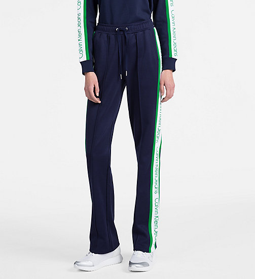 CALVIN KLEIN JEANS Side-Stripe Track Pants - PEACOAT - CALVIN KLEIN JEANS CALVIN KLEIN JEANS CAPSULE - main image