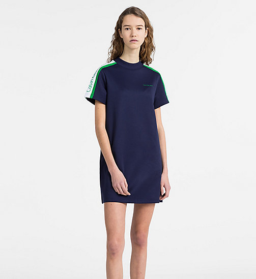 CALVIN KLEIN JEANS Short-Sleeve Track Dress - PEACOAT - CALVIN KLEIN JEANS CALVIN KLEIN JEANS CAPSULE - main image