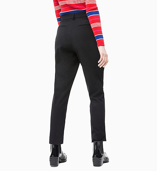 CALVIN KLEIN JEANS Side-Stripe Twill Trousers - CK BLACK - CALVIN KLEIN JEANS TROUSERS & SHORTS - detail image 1