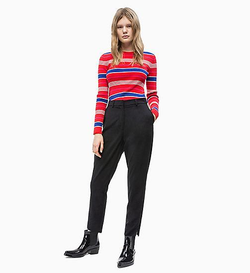 f4b4de428af47 ... CALVIN KLEIN JEANS Side-Stripe Twill Trousers - CK BLACK - CALVIN KLEIN  JEANS LOGO