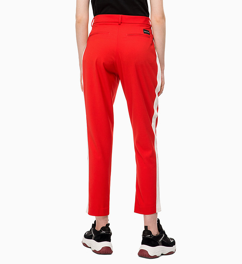 CALVIN KLEIN JEANS Side-Stripe Twill Trousers - CK BLACK - CALVIN KLEIN JEANS WOMEN - detail image 1