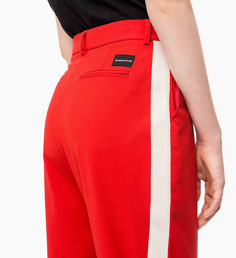 CALVIN KLEIN JEANS Side-Stripe Twill Trousers - CK BLACK - CALVIN KLEIN JEANS WOMEN - detail image 2