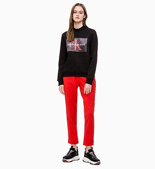 e601182eee857 ... CALVIN KLEIN JEANS Side-Stripe Twill Trousers - RACING RED - CALVIN  KLEIN JEANS LOGO