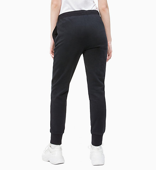 CALVIN KLEIN JEANS Cotton Terry Joggers - CK BLACK -  TROUSERS & SHORTS - detail image 1