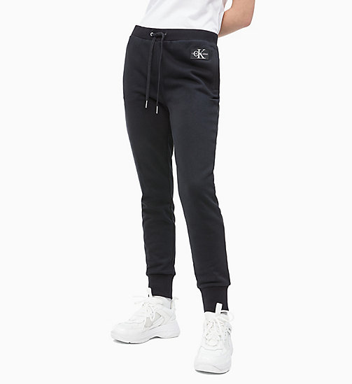 CALVIN KLEIN JEANS Cotton Terry Joggers - CK BLACK -  TROUSERS & SHORTS - main image