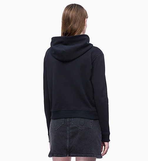 CALVIN KLEIN JEANS Boxy Zip-Through Hoodie - CK BLACK - CALVIN KLEIN JEANS LOGO SHOP - detail image 1