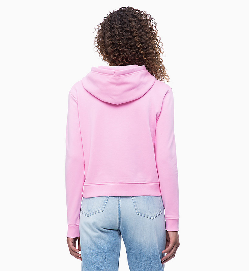 CALVIN KLEIN JEANS Zip-Through Hoodie - STRAWBERRY CREAM - CALVIN KLEIN JEANS UNDERWEAR - detail image 1
