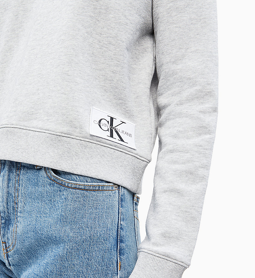 CALVIN KLEIN JEANS Boxy Logo Badge Sweatshirt - STRAWBERRY CREAM - CALVIN KLEIN JEANS UNDERWEAR - detail image 3