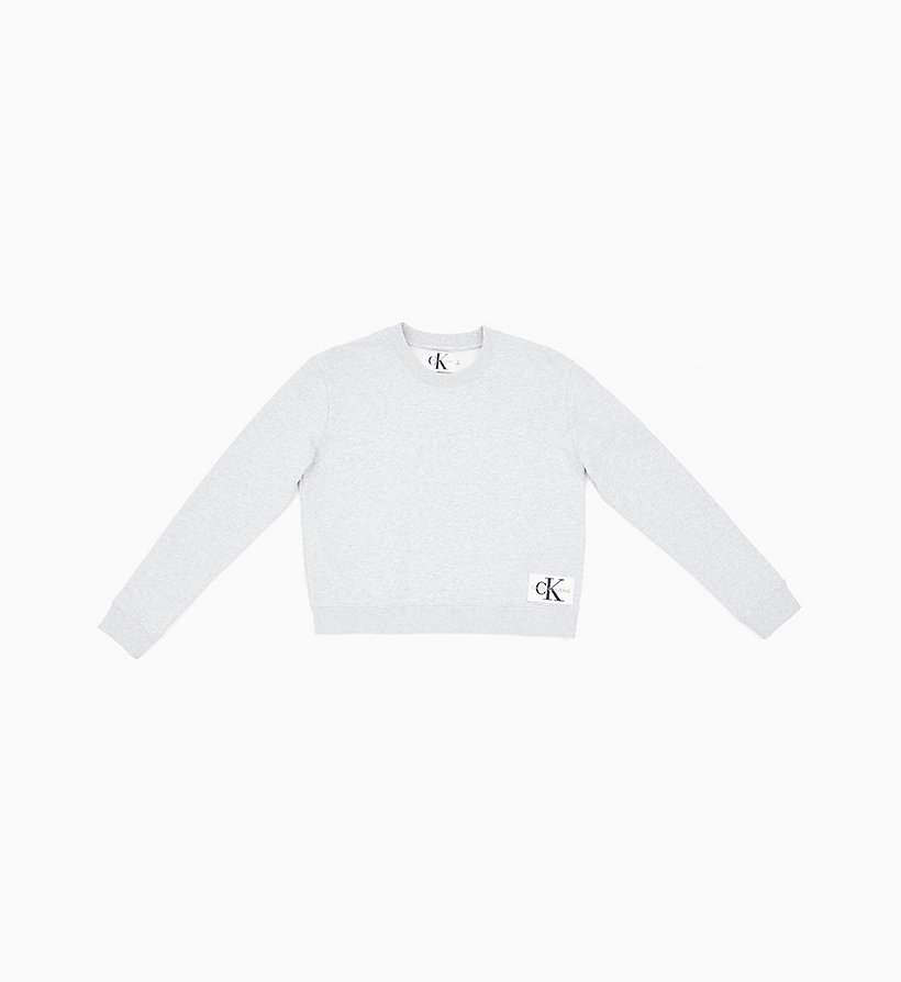 CALVIN KLEIN JEANS Boxy Logo Badge Sweatshirt - STRAWBERRY CREAM - CALVIN KLEIN JEANS UNDERWEAR - main image