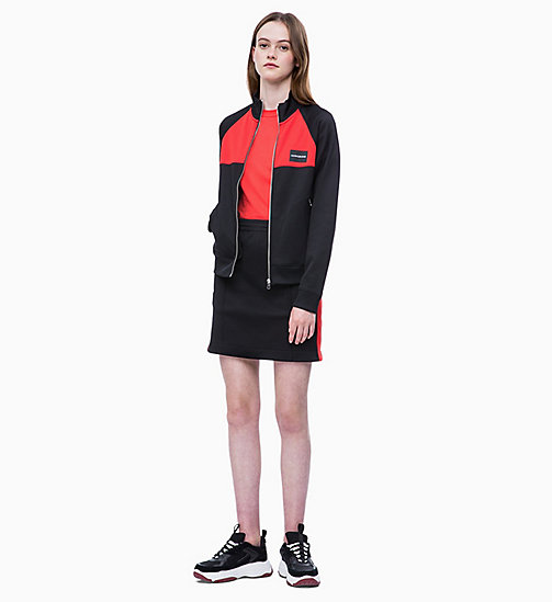 CALVIN KLEIN JEANS Trainingsjacke in Blockfarbendesign - CK BLACK/RACING RED - CALVIN KLEIN JEANS NEW IN - main image 1