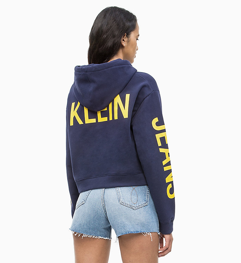 CALVIN KLEIN JEANS Cropped Logo Hoodie - LIGHT GREY HEATHER - CALVIN KLEIN JEANS UNDERWEAR - detail image 2