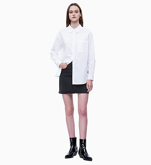 CALVIN KLEIN JEANS Oversized Cotton Poplin Shirt - BRIGHT WHITE - CALVIN KLEIN JEANS NEW IN - detail image 1