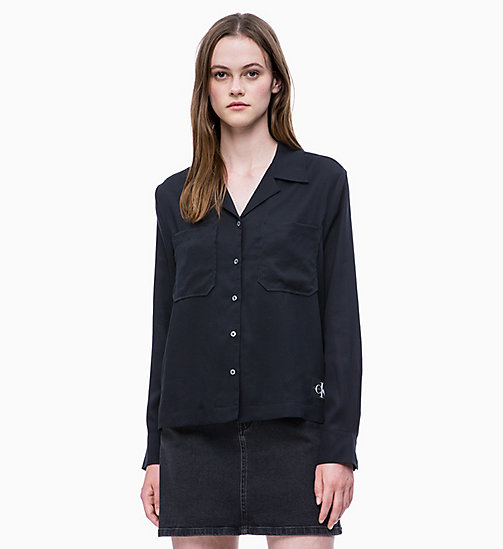 CALVIN KLEIN JEANS Patch Pocket Shirt - CK BLACK - CALVIN KLEIN JEANS SHIRTS & TOPS - main image