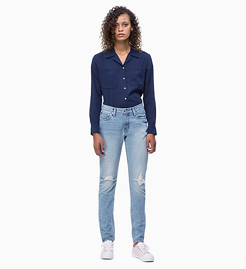 CALVIN KLEIN JEANS Patch Pocket Shirt - PEACOAT - CALVIN KLEIN JEANS SHIRTS & TOPS - detail image 1
