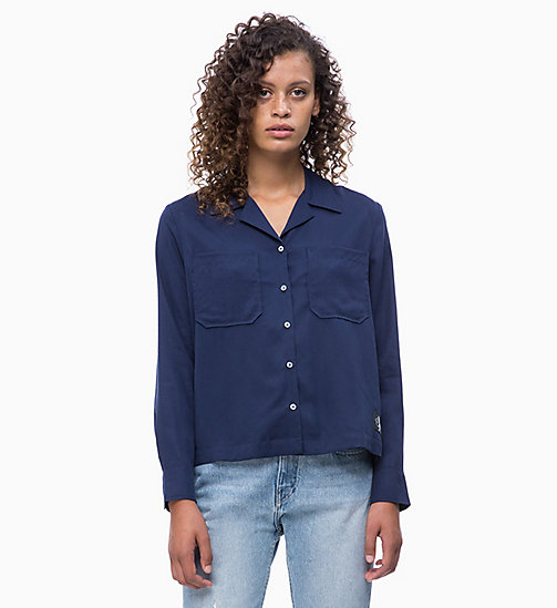 CALVIN KLEIN JEANS Patch Pocket Shirt - PEACOAT - CALVIN KLEIN JEANS SHIRTS & TOPS - main image