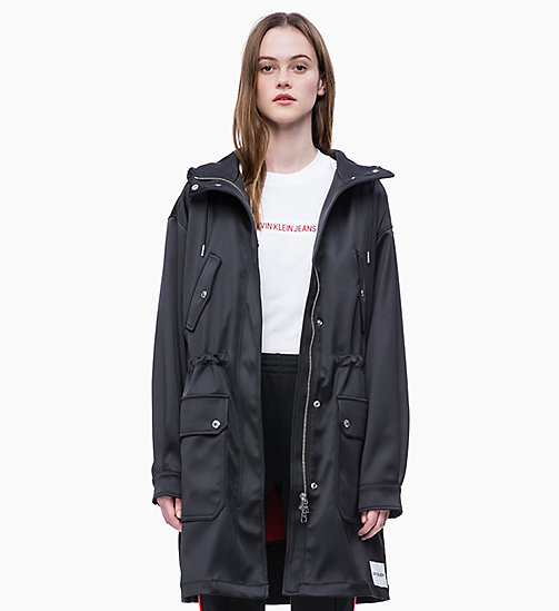 CALVIN KLEIN JEANS 2-in-1 Satin Parka - CK BLACK - CALVIN KLEIN JEANS NEW IN - main image