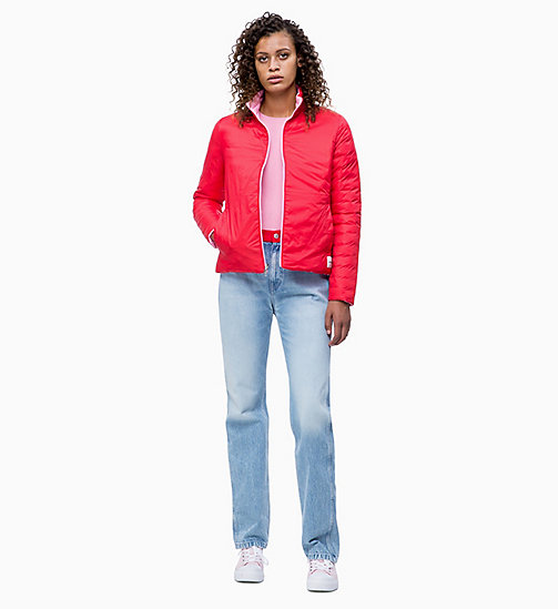 CALVIN KLEIN JEANS Reversible Lightweight Puffer Jacket - BEGONIA PINK - CALVIN KLEIN JEANS NEW IN - detail image 1