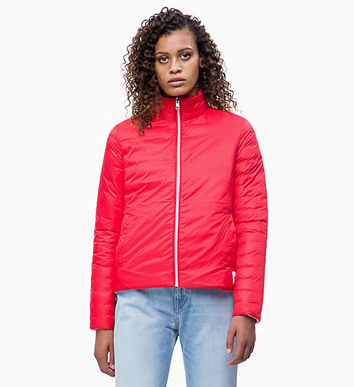 CALVIN KLEIN JEANS Reversible Lightweight Puffer Jacket - BEGONIA PINK - CALVIN KLEIN JEANS NEW IN - main image
