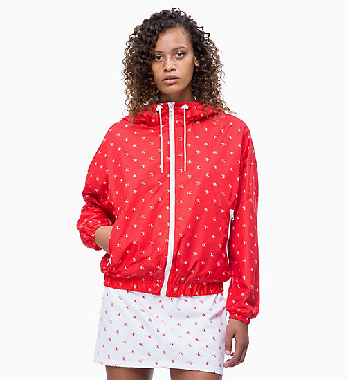 CALVIN KLEIN JEANS All-Over Logo Windbreaker - CK AOP RACING RED/WHITE - CALVIN KLEIN JEANS LOGO SHOP - main image