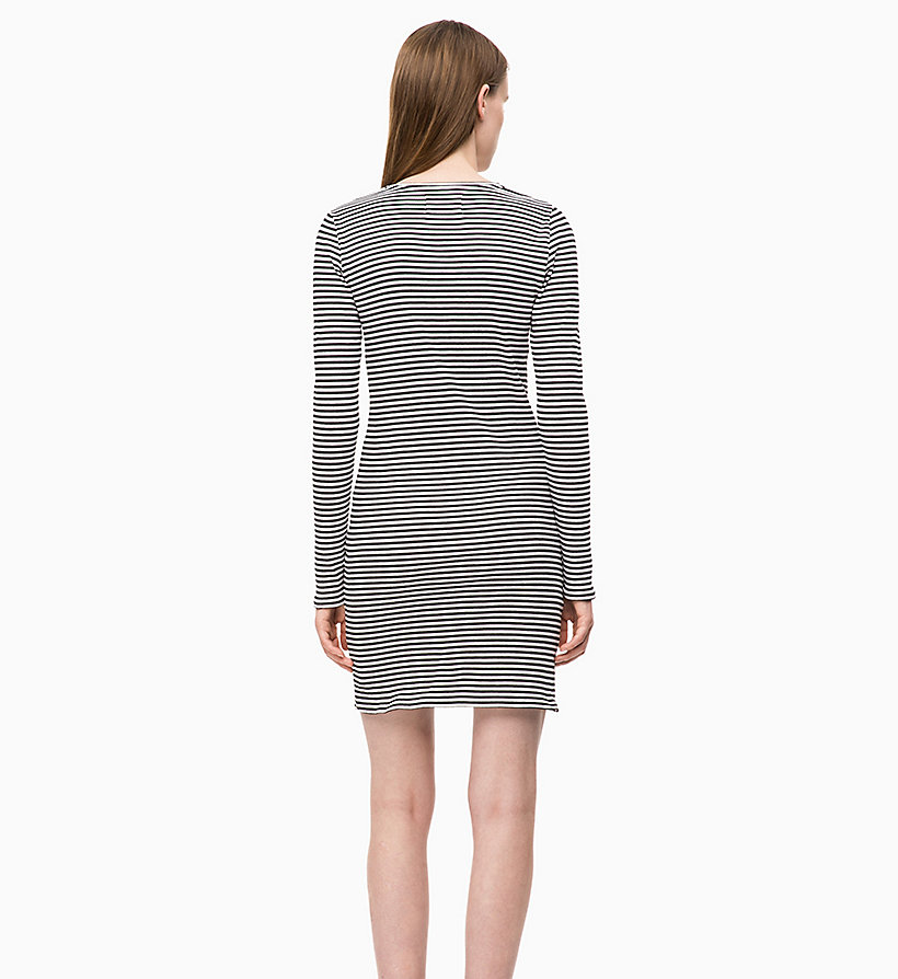 CALVIN KLEIN JEANS Stripe Jersey Long Sleeve Dress - CK BLACK - CALVIN KLEIN JEANS WOMEN - detail image 1