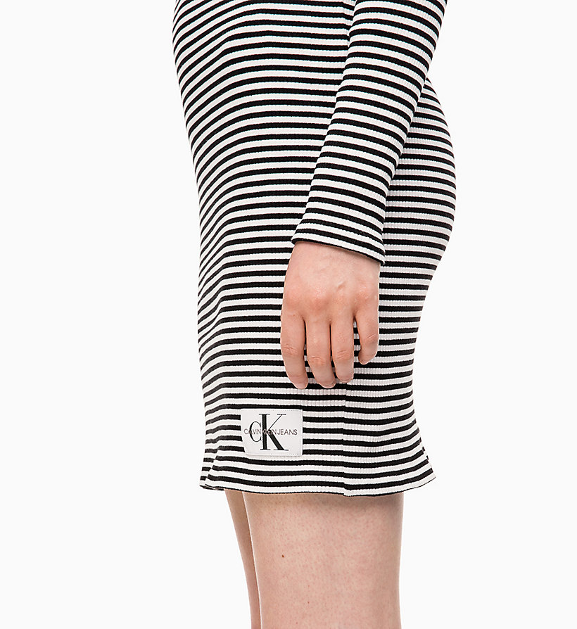 CALVIN KLEIN JEANS Stripe Jersey Long Sleeve Dress - CK BLACK - CALVIN KLEIN JEANS WOMEN - detail image 2