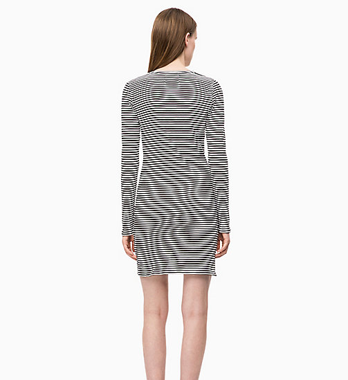 CALVIN KLEIN JEANS Stripe Jersey Long Sleeve Dress - CK BLACK/WHITE - CALVIN KLEIN JEANS NEW IN - detail image 1