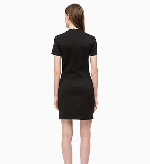 CALVIN KLEIN JEANS Fitted Milano Jersey Dress - CK BLACK - CALVIN KLEIN JEANS NEW IN - detail image 1