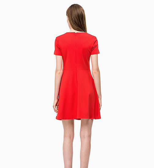 CALVIN KLEIN JEANS Milano Jersey Skater Dress - RACING RED -  NEW IN - detail image 1