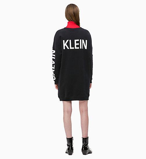 9e2fb486cc98 ... CALVIN KLEIN JEANS Logo-Sweatshirt-Kleid - CK BLACK - CALVIN KLEIN  JEANS LOGO