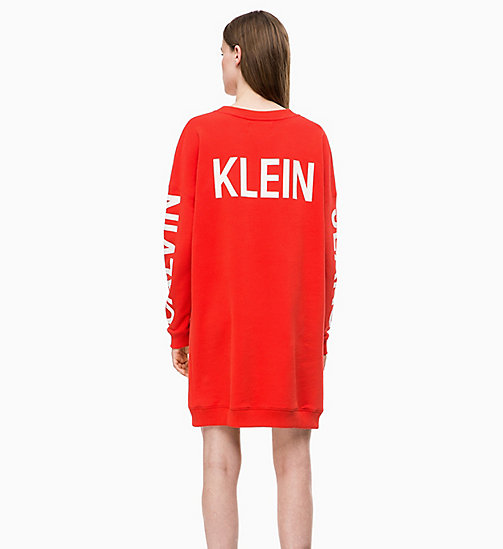 CALVIN KLEIN JEANS Logo Sweatshirt Dress - RACING RED - CALVIN KLEIN JEANS LOGO SHOP - detail image 1