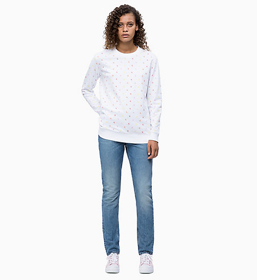 CALVIN KLEIN JEANS All-Over Logo Sweatshirt - BRIGHT WHITE - CALVIN KLEIN JEANS NEW IN - detail image 1