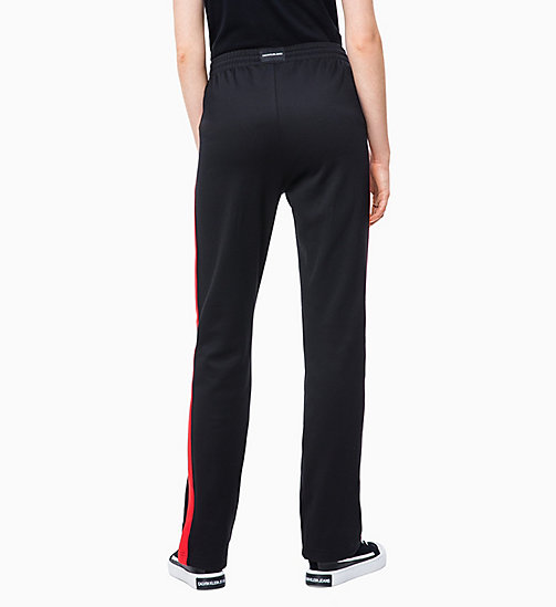 CALVIN KLEIN JEANS High Rise Side-Stripe Joggers - CK BLACK/RACING RED - CALVIN KLEIN JEANS TROUSERS & SHORTS - detail image 1