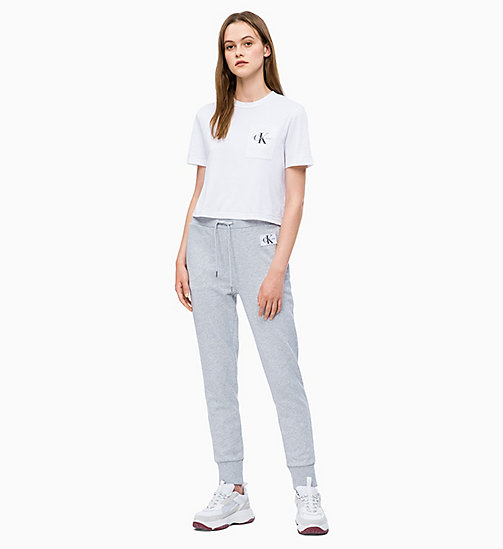 CALVIN KLEIN JEANS Organic Cotton Cropped Logo T-shirt - BRIGHT WHITE - CALVIN KLEIN JEANS NEW IN - detail image 1
