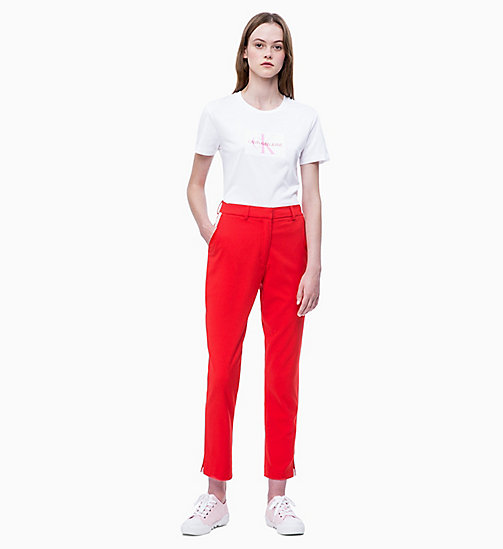 CALVIN KLEIN JEANS Slim Logo T-shirt - BRIGHT WHITE - CALVIN KLEIN JEANS NEW IN - detail image 1