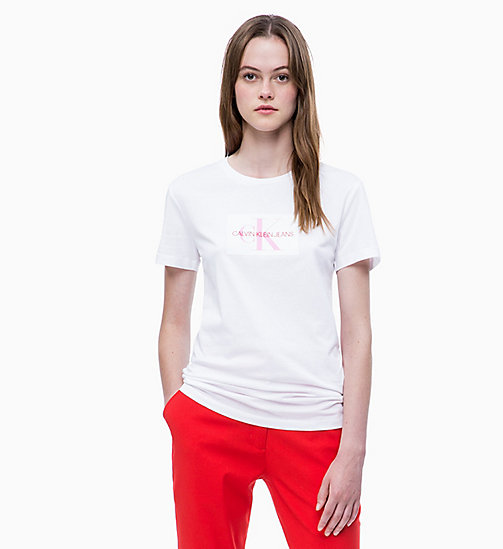 CALVIN KLEIN JEANS Slim Logo T-shirt - BRIGHT WHITE - CALVIN KLEIN JEANS NEW IN - main image