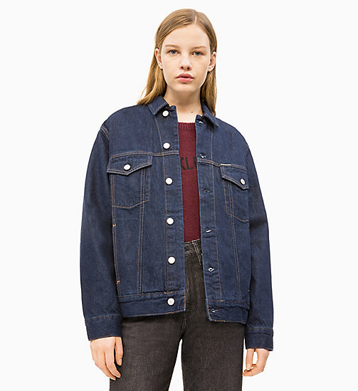 CALVIN KLEIN JEANS Denim Trucker Jacket - RINSE - CALVIN KLEIN JEANS DENIM SHOP - main image
