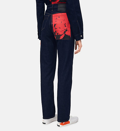 CALVIN KLEIN JEANS High-Rise Straight-Jeans mit Warhol-Portrait - RINSE RED PRINT - CALVIN KLEIN JEANS NEUE JEANS - main image 1