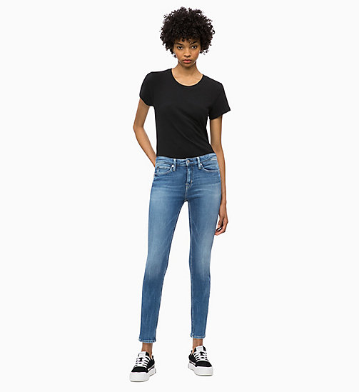 CALVIN KLEIN JEANS CKJ 011 Mid Rise Skinny Jeans - BUTTE BLUE - CALVIN KLEIN JEANS NEW ICONS - detail image 1