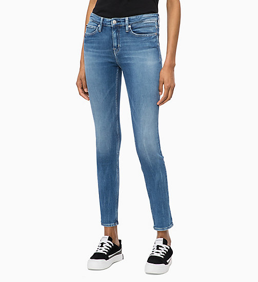 CALVIN KLEIN JEANS CKJ 011 Mid Rise Skinny Jeans - BUTTE BLUE - CALVIN KLEIN JEANS NEW ICONS - main image