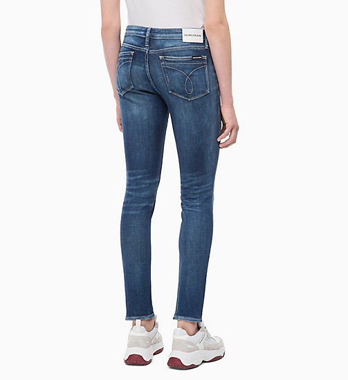CALVIN KLEIN JEANS CKJ 011 Mid Rise Skinny Patched Jeans - PALERMO BLUE - CALVIN KLEIN JEANS SKINNY JEANS - detail image 1
