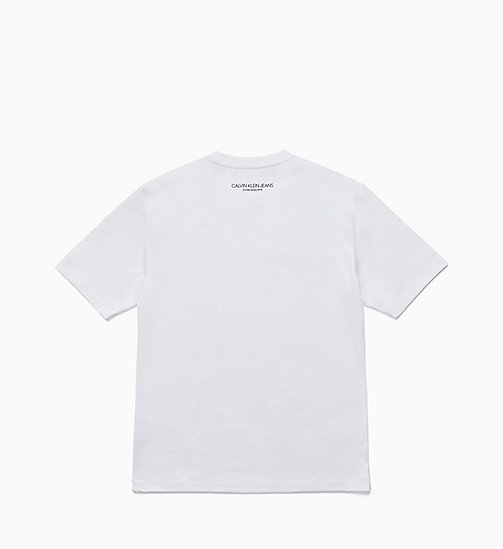 CALVIN KLEIN JEANS Est. 1978 Small Patch T-shirt - BRIGHT WHITE / CK BLACK - CALVIN KLEIN JEANS TOPS - detail image 1