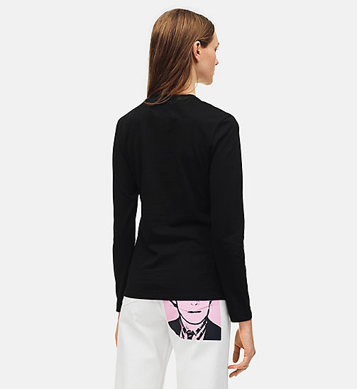 CALVIN KLEIN JEANS Warhol Portrait Long Sleeve T-shirt - CK BLACK / GREEN -  ANDY WARHOL - detail image 1